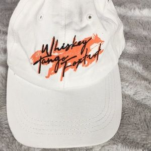 Whiskey tango fox white baseball cap